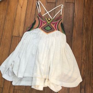 Embroidered Free People Tank